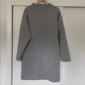 Prologue High Neck Gray Dress